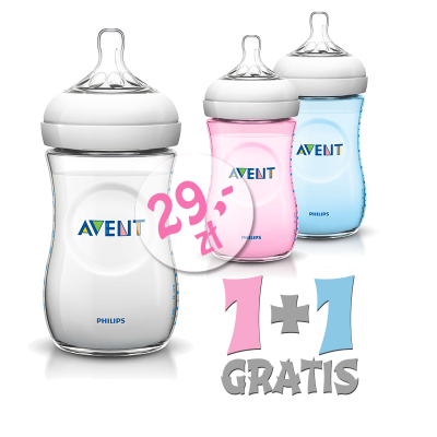 Butelka AVENT Natural 1+1 gratis